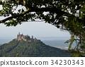 Hohenzollern castle near Hechingen in Germany 34230343