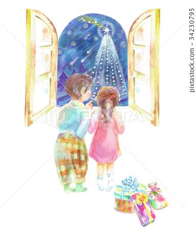 看聖誕樹的孩子 34230795