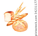 빵 세트 일러스트 34231177
