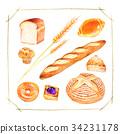 빵 종류 일러스트 34231178