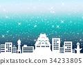 크리스마스 이미지 오사카 블루 34233805