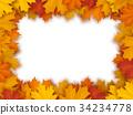 Vector frame of fallen maple leaves 34234778