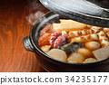oden, steam, earthenware pot 34235177