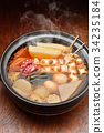 oden, steam, earthenware pot 34235184