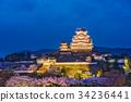 Himeji Castle in Spring 34236441