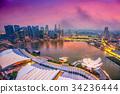 Singapore city skyline 34236444