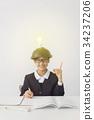 수험생 수험 공부 아이디어 반짝임 이미지 34237206