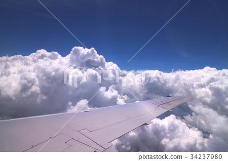 飞机 天空 蓝天 34237980