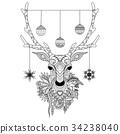 Christmas deer 34238040