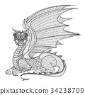 Dragon coloring page 34238709