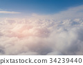 Blue sky and white cloud 34239440