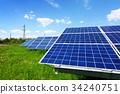 Solar panel on blue sky background 34240751