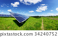 Solar panel on blue sky background 34240752