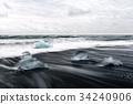 Iceberg pieces on Diamond beach 34240906