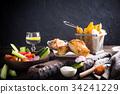 food, seafood, vegetable 34241229