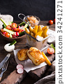 food, seafood, vegetable 34241271
