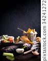 food, seafood, vegetable 34241272