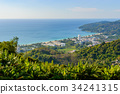 Panoramic view of the town of Patong 34241315