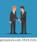 Businessmen shaking hands together. 34241581