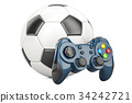 Football, Video Game concept. Soccer ball 34242721