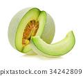 cantaloupe melon isolated on white background 34242809