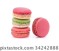 Sweet and colourful french macaroons or macaron  34242888