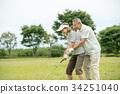 高爾夫資深夫婦活躍圖像 34251040