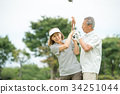 高爾夫資深夫婦活躍圖像 34251044