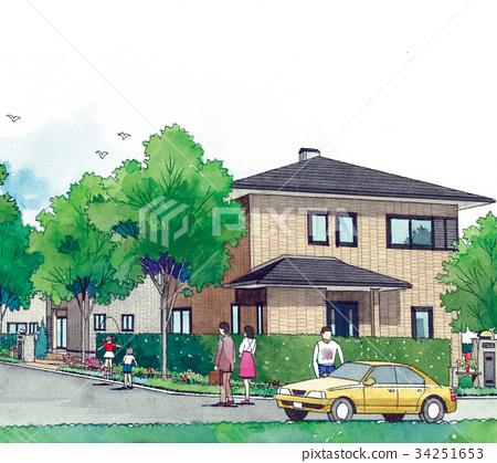 행복 가족 귀로 택시 줄넘기 건강하게 노는 아이들 거리 거리 이미지 가족 줄넘기 34251653
