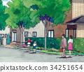 가족 귀로 거리 거리 이미지 줄넘기 34251654