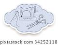 hand, sew, drawn 34252118