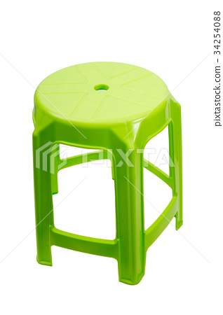 Green chair, modern isolated on white background. 34254088