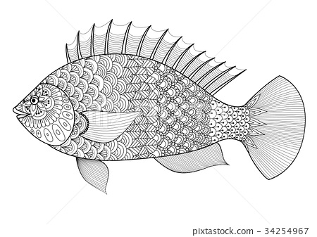 Fish for coloring book 34254967
