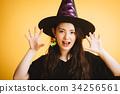 作為巫婆打扮的萬聖夜女孩 34256561