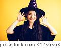 作為巫婆打扮的萬聖夜女孩 34256563
