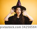 作為巫婆打扮的萬聖夜女孩 34256564