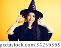 作為巫婆打扮的萬聖夜女孩 34256565