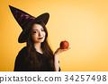 萬聖節女巫服裝年輕女子 34257498