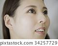 여성, 화장, 얼굴 34257729