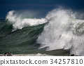 tsunami tropical hurricane on the sea 34257810
