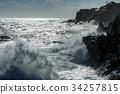 tsunami tropical hurricane on the sea 34257815