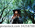 Image of witch in black hat 34258788