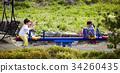 시소, 놀이, 공원 34260435