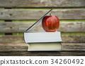 本とリンゴ 34260492