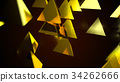 Abstract background with golden pyramids. Digital 34262666