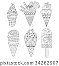 ice cream coloring book 34262907