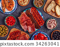 Typical Spanish concept of tapas. 34263041
