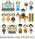 江戶時代 歷史劇 矢量 34263221