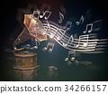 gramophone music background 34266157