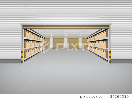 Warehouse Building Background 34266559